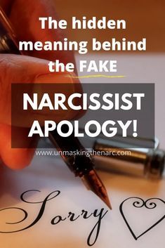 """The Narcissistic Apology [What """"I'm Sorry"""" really means] 
