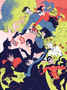 Ein seltenes Familienportrait aus Gotham: The Good, the Bad and the Artist.   FugScreen Studios