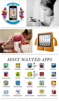 Apps for toddler : saving this list for our next airplane trip!