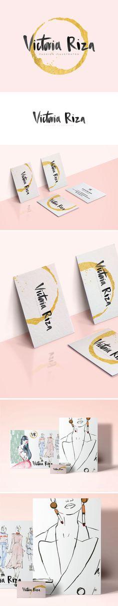 branding, fashion illustration, logo, logo design, pink and gold, brush script, watercolor, illustration