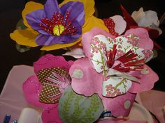 Paper flowers for Mad Hatter Tea Party Bridal Shower Centerpieces