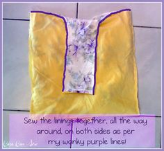 Tutorial: Lined Vintage Pillowcase Bag