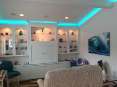 Crown Molding with LED up lighting Family Room Pinterest
