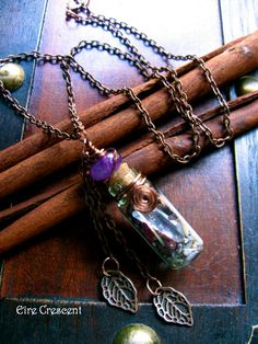 Faery Bottle Necklace by EireCrescent on Etsy, $23.99