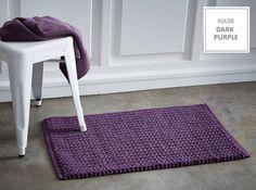 Fioletowe dywaniki bawełniane do łazienki