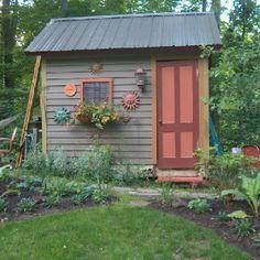 Sunny potting shed