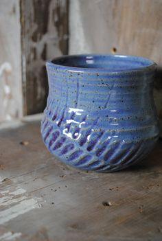 Purple Feather Mug