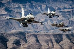 Superb air-to-air mission to show the 4th-5th Generation fighter integration with the Royal Netherlands AF in the USA, with the Viper-training 148th 'Kickin Ass' over Arizona joined by the future-developing 323 TES F-35 Lightning IIs during Assignment 13 last week.