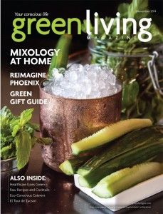 In our November issue we feature recipes for cocktails, our Green Gift Guide, how healthcare is going green and more!