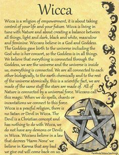 I chose this because it describes Wicca in a summary. I see Wicca as a form of feminism because of religious freedom, based on ones own interpretation. I think about how women used religion to as a way to deal with sexism in their everyday lives without organized religions.