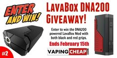 Win a DNA200 LavaBox Mod! LavaBox DNA200 Box Mod Red Lavabox Grip White Lavabox Grip