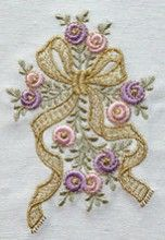 Free Machine Embroidery Designs, Hand Embroidery Patterns, Bullion Embroidery, Creative Embroidery, Brazilian Embroidery, French Knots, Flower Basket, Cross Stitch, Elsa