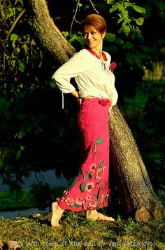 °Hodvábno-vlnená sukňa MAGENTA,vhodná od +20°C do -20°C °použitá technika:Nunoplstenie-prepojenie kvalitných 100% prírodných materiálov: hodvábu a jemnej ovčej vl...