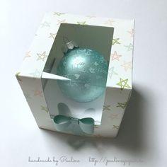 Verpackung für Cupcakes Muffins oder Weihnachtskugeln. ........Anleitung auf der Website Paulinespapier.de
