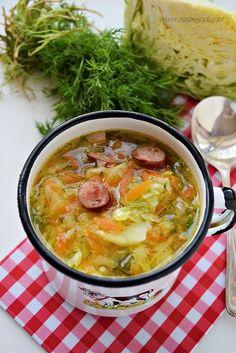 Zupa z młodej kapusty - Napiecyku Soup Recipes, Cooking Recipes, Polish Recipes, Polish Food, Aga, Cheeseburger Chowder, Stew, Curry, Good Food