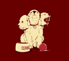 Cerberus Puppy - want this on a t-shirt so bad I can't even articulate how much