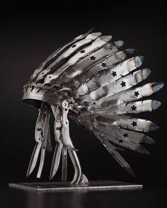 """Saatchi Art Artist Peter McFarlane; Sculpture, """"(Sold)(Lawn Mower) Blade Bonnet"""" #art"""