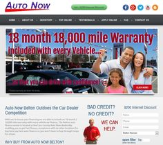 The new www.AutoNowBelton.com car dealership website by www.InternetBuilderConsulting.com is now ranked #1 on Google for the target search term helping Auto Now reach more buyers and sell more cars!