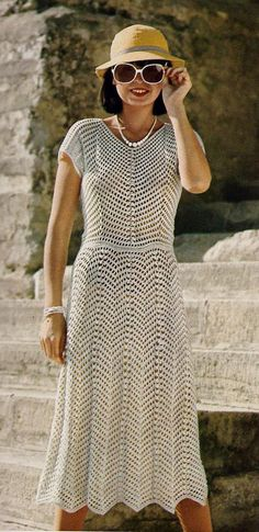Crocheted Chevron Lace Dress by MomentsInTwine on Etsy