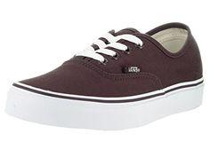 ec2b6dabbc Vans Unisex Authentic Iron BrownTrue White Skate Shoe 7 Men US 85 Women US