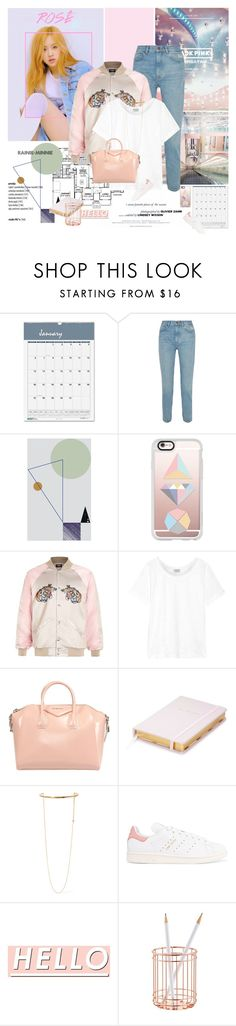 """""""Rose'"""" by rainie-minnie ❤ liked on Polyvore featuring F, Craftsman, House of Doolittle, M.i.h Jeans, ferm LIVING, Casetify, Frame Denim, Kate Spade, STELLA McCARTNEY and adidas Originals"""