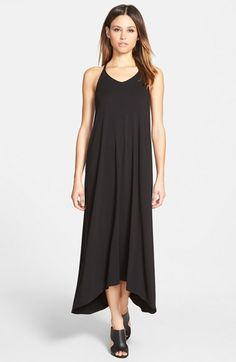 Eileen Fisher V-Neck Jersey High/Low Hem Racerback Dress available at #Nordstrom