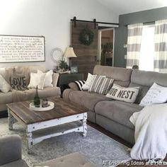 048 Interesting Modern Farmhouse Living Room Ideas