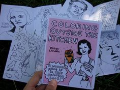 These mini-coloring books are 4 x 5.5 inches, just the right size to slip into a pocket for a quick coloring session, anytime! The 2016 edition