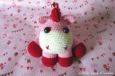 Pink Baby Unicorn amigurumi crochet pattern- free