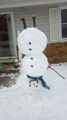 Our upside down snowman!  :)