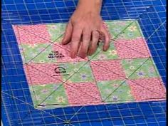 Learn to get perfectly centered quilt blocks without doing the math