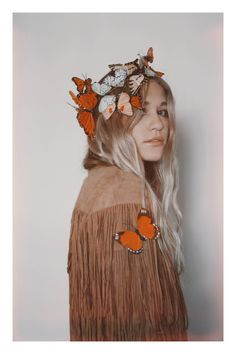 ☾ ☆☽  Another new addition to the Wild & Free Jewelry butterfly crown collection. A step up from the original Monarch Dreams Crown. Handmade