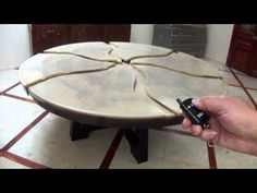 The Rossi Evolution Table: A Remote Controlled Motorized Expanding Table. - YouTube