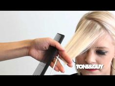 How to Cut an Asymmetrical Fringe - YouTube