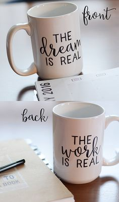 Entrepreneur's Coffee Mug The Dream is Real by PrettyPlusPaper