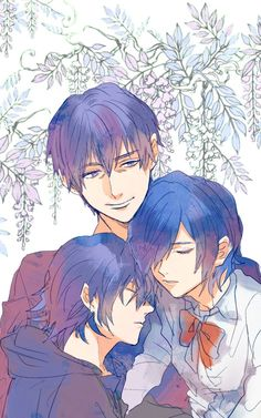 Arata, Touka, and Ayato [by http://www.pixiv.net/member_illust.php?mode=medium&illust_id=46264528]
