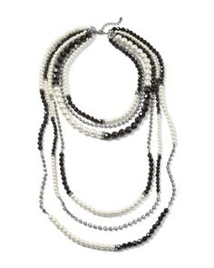 Jewelry & Watches Black Glass And Silver Bead Necklace With Sparkly Faceted Diamante Spacers Invigorating Blood Circulation And Stopping Pains Fashion Jewelry