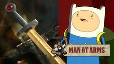 Get Mathematical! - Finn's Golden Sword Of Battle From Adventure Time [ Swordnarmory.com ] #game #anime #swords