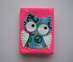 Peace Sign Owl Mini Duct Tape Wallet - Hot Pink. $12.00, via Etsy.