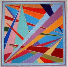 Triangles, Hand Painted Needlepoint Canvas