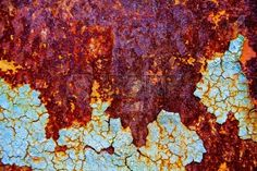 Picture of old abstract background from the cracked paint on rusty iron stock photo, images and stock photography. Interactive Projection, Cracked Paint, Peeling Paint, Eye Painting, A Level Art, Tree Bark, Beautiful Textures, Wabi Sabi, Abstract Wall Art