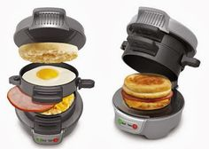 If you're like us you're a sucker for breakfast sandwiches. That's why we think this Breakfast Sandwich Maker is one of the best inventions ever. Cool Kitchen Gadgets, Kitchen Tools, Cool Kitchens, Oeuf Bacon, Food Storage, Breakfast Sandwich Maker, Russell Hobbs, Cool Inventions, Serious Eats