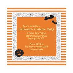 Elegant black lace halloween cocktail party card halloween halloween costume party invitation square stopboris Images