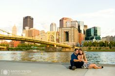 Downtown Pittsburgh North Shore engagement
