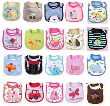 34 Styles Baby Bibs Toddler Waterproof Infant Cute Cotton Cartoon Kids Towel