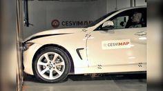Crash Test delantero BMW 420d xdrive  en CESVIMAP