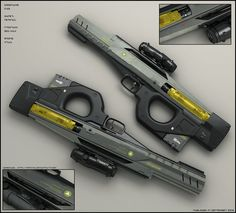 Concept of sci fi assault rifle. Another older concept I finished now. Bold body for hard conditions. Body was done so I put some subparts around the body and made render. D...