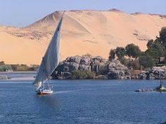 Nil, Assuan, Elephantine, Wüste, Ägypten