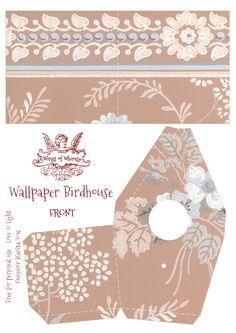 Vintage Wallpaper Birdhouse No 11