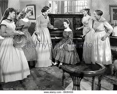 'Little Women' starring June Allyson, Elizabeth Taylor, Mary Astor,Margaret O'Brien, Janet Leigh and Elizabeth Patterson as Hannah Old Hollywood Stars, Golden Age Of Hollywood, Classic Hollywood, Hollywood Music, Hollywood Actresses, Elizabeth Patterson, Elizabeth Taylor, Louisa May Alcott, Classic Movie Stars